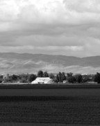 Canon Eos 50d Photos - Barn and Plowed Fields Tracy CA by Troy Montemayor