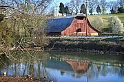 Tennessee Barn Posters - Barn and Reflections Poster by Todd A Blanchard