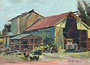 Old Barn Paintings - Barn and Stuff by Paul Youngman