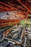 Tenn Prints - Barn And Wagon 2a Print by Dennis Sullivan