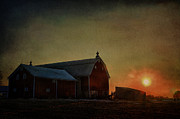 Red - Barn at Sunset by Joel Witmeyer