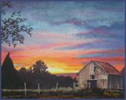 Wes Loper - Barn at Sunset
