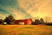 Pamela Parton Photography Framed Prints - Barn at The Park Framed Print by Pamela Parton