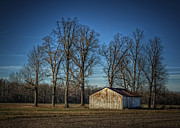 Old Barn Posters - Barn at Twilight Poster by Pamela Baker