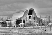 Hayloft Posters - Barn black and white Poster by Geary Barr