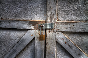 Lock Greeting Cards Posters - Barn Door Poster by John Herzog