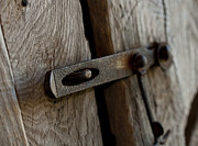 Wooden Barns Posters - Barn Door Latch Poster by Wilma  Birdwell