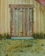 Barn Door Painting Framed Prints - Barn Door Framed Print by Tina Storey