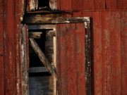 Barn Door Photo Framed Prints - Barn Door Framed Print by Valerie Morrison