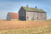 Farming Barns Prints - Barn Duo Print by Deborah Smolinske