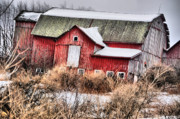 Abandoned Barn Prints - Barn for All Seasons Print by Emily Stauring