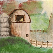 Field Ceramics - Barn by Gail Schmiedlin