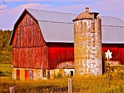 Barn And Silo Prints - Barn In America Print by Randy Rosenberger