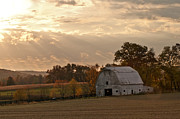 Storm Prints Photo Prints - Barn In Warming Storm Print by Randall Branham