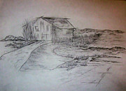 Buildings Drawings - Barn by John Krakora