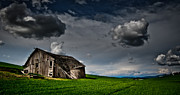 Grey Clouds Posters - Barn no.1 Poster by Niels Nielsen