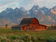 Barns Digital Art Metal Prints - Barn on Mormon Row 2 Metal Print by Vijay Sharon Govender