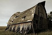Old Barn Posters - Barn on the Move Poster by Gary Gunderson