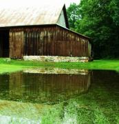 Anna Villarreal Garbis Metal Prints - Barn Reflection I Metal Print by Anna Villarreal Garbis