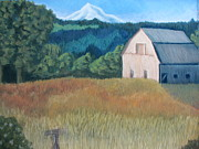 Landscape. Scenic Pastels Framed Prints - Barn series 1 Framed Print by Molly Gochenour