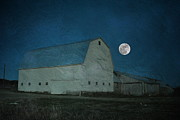 Night Scenes Framed Prints - Barn Shine Framed Print by Emily Stauring