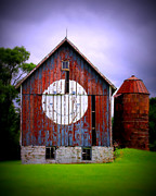 Smiley Face Posters - Barn Smile Poster by Perry Webster