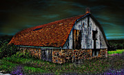 Barn Storm Mixed Media Prints - Barn Storming Print by Ms Judi