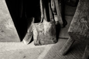 Shovels Prints - Barn Tools Print by Wilma  Birdwell