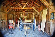 Wagon Wheels Photos - Barn Treasures 2 by Cheryl Young