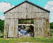 Old Barns Prints - Barn Treasures Print by Cheryl Young