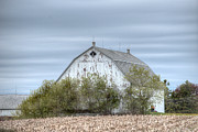 Farming Barns Prints - Barn Under Stormy Skies Print by Deborah Smolinske