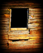 Weathered Houses Framed Prints - Barn Window Framed Print by Perry Webster