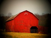 Northern Virginia Photos - Barn with an M by Joyce  Kimble Smith