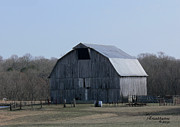 Sooc Prints - Barn With Gambrel Roof Print by EricaMaxine  Price