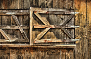 Door Hinges Posters - Barn Wood Texture Poster by Joanne Coyle