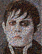 Montage Mixed Media - Barnabas Collins Johnny Depp Mosaic by Paul Van Scott