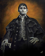 Collins Framed Prints - Barnabus Collins - Johnny Depp Framed Print by Tom Carlton