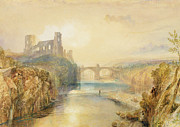 River Tees Prints - Barnard Castle  Print by Joseph Mallord William Turner