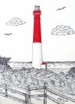 Barnegat Light Drawing Print by Frederic Kohli