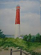 Jeff Lucas Prints - Barnegat Light Print by Jeff Lucas