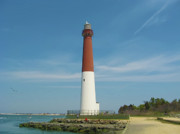 Ocean Digital Art - Barnegat Lighthouse by Bill Cannon