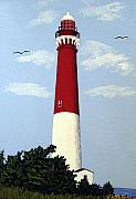 Historic Buildings Paintings - Barnegat Lighthouse by Frederic Kohli