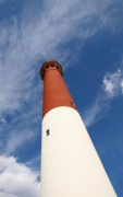 Barnegat Inlet Photo Posters - Barnegat Lighthouse Skyward View Poster by Joyce StJames