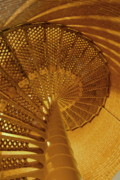 Spiral Staircase Prints - Barnegat Lighthouse Staircase Print by Joyce StJames