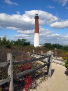 Barnegat Inlet Photo Posters - Barnegat New Jersey Light House Poster by Richard Singleton