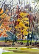 Autumn Foliage Paintings - Barnetts House by Donald Maier