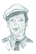 Andy Griffith Show Drawings Posters - Barney Poster by Eric Jones