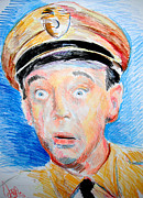 Griffith Drawings Framed Prints - Barney Fife  Framed Print by Jon Baldwin  Art