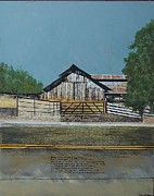 Agriculture Mixed Media Posters - Barns and Fences West Marin CA Poster by Eric Engstrom