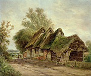 Broken Down Framed Prints - Barns at Flatford Framed Print by John Moore of Ipswich